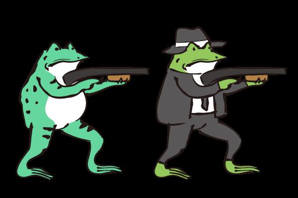 銃 ダ鳥獣戯画