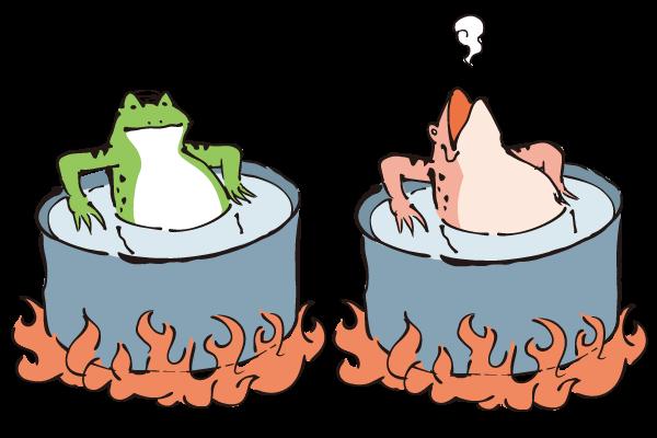 ゆでガエル – ダ鳥獣戯画